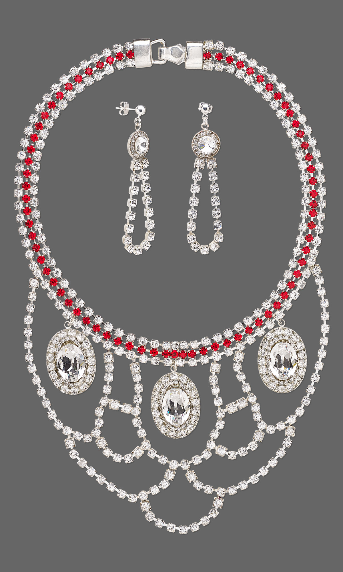 Jewelry Design Bib Style Necklace And Earring Set With