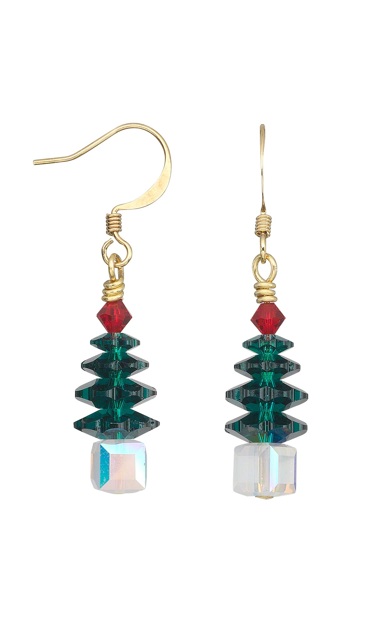 Jewelry Design - Christmas Tree Earrings with Swarovski ...