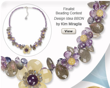 Finalst Beading Contest: Design Idea BBDN Necklace, By Kim Mifaglia