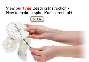 Free Beading Instructions - How to Make a Spiral Kumihimo Braid Illustrated Instructions