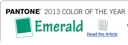 Pantone 2013 Color of the Year - Emerald - Read the Article