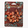 Bead, Blue Moon Beads®, carnelian (dyed / heated / coated), extra-large pebble. Pkg/20.