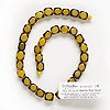 Bead, Blue Moon Beads®, nut (dyed / coated), yellow, 9x9mm-11x11mm cube. Sold per 14-inch strand. Minimum 4 per order.