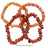 Bead, carnelian (dyed / heated), light to dark, small to extra-large chip, Mohs hardness 7. Sold per pkg of (2) 7-inch strands.