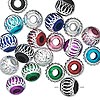 Bead mix, aluminum, mixed colors, 8mm diamond-cut round with 2.5-3.5mm hole. Sold per pkg of 20.