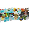 Bead mix, millefiori glass, mixed colors, small to extra-large chip. Sold per pkg of (5) 36-inch strands.