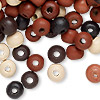 Bead mix, painted wood, mixed colors, 7-8mm irregular round. Sold per 90-gram pkg, approximately 600 beads.