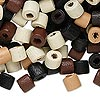 Bead mix, wood, mixed colors, 7x6mm heishi. Sold per 90-gram pkg, approximately 760 beads.