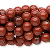 Bead, red jasper (natural), 8mm round, C grade, Mohs hardness 6-1/2 to 7. Sold per pkg of (10) 16-inch strands.