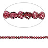 Bead, rhodolite garnet (dyed), 2x2mm-3x3mm hand-cut faceted double cone, B- grade, Mohs hardness 7 to 7-1/2. Sold per 14-inch strand.