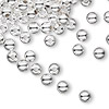 Bead, sterling silver, 5mm seamless round. Sold per pkg of 50.