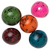 Bead, tagua nut (dyed), assorted colors, 14-18mm round. Sold per pkg of 5.