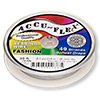 Beading wire, Accu-Flex®, nylon and stainless steel, pearl, 49 strand, 0.014-inch diameter. Sold per 30-foot spool.