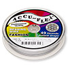 Beading wire, Accu-Flex®, nylon and stainless steel, pearl, 49 strand, 0.019-inch diameter. Sold per 100-foot spool.