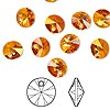 Drop, Swarovski crystal, Crystal Passions®, crystal astral pink, 8mm Xilion rivoli pendant (6428). Sold per pkg of 12.