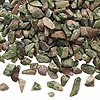 Embellishment, unakite (natural), mini to small undrilled chip, Mohs hardness 6 to 7. Sold per 50-gram pkg, approximately 950 to 1,200 chips. Minimum 8 per order.