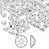 Flat back, Swarovski® crystal rhinestone, crystal clear, foil back, 3.8-4mm Xirius rose (2088), SS16. Sold per pkg of 144 (1 gross).