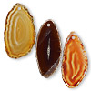 Focal, agate (natural / dyed / heated), red / black / brown, 30x15mm-46x26mm hand-cut slice, Mohs hardness 6-1/2 to 7. Sold per pkg of 3.