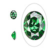 Gem, cubic zirconia, emerald green, 8x6mm faceted oval, Mohs hardness 8-1/2. Sold per pkg of 2.