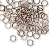 Jumpring, aluminum, bronze, 6mm round, 18 gauge. Sold per pkg of 100.