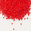 Seed bead, Delica®, glass, opaque red, (DB727), #11 round. Sold per pkg of 7.5 grams.