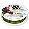 Wire, Zebra Wire™, color-coated copper, green, round, 20 gauge. Sold per 15-yard spool.