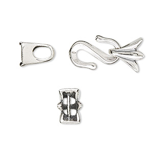 Clasp, JBB Findings, multi-strand hook-and-eye, sterling ...